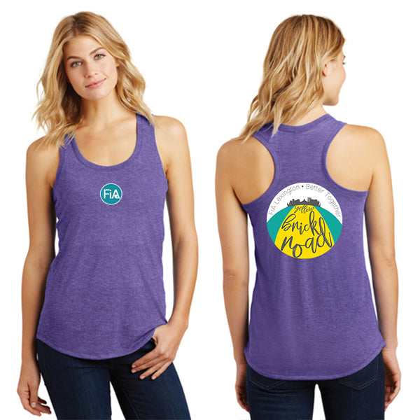 FiA Lexington Yellow Brick Road District Made Ladies Perfect Tri Racerback Tank Pre-Order