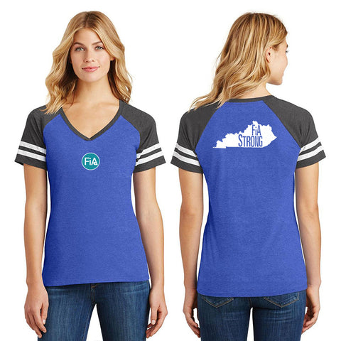 FiA Strong - Kentucky District Women's Game V-Neck Tee Pre-Order