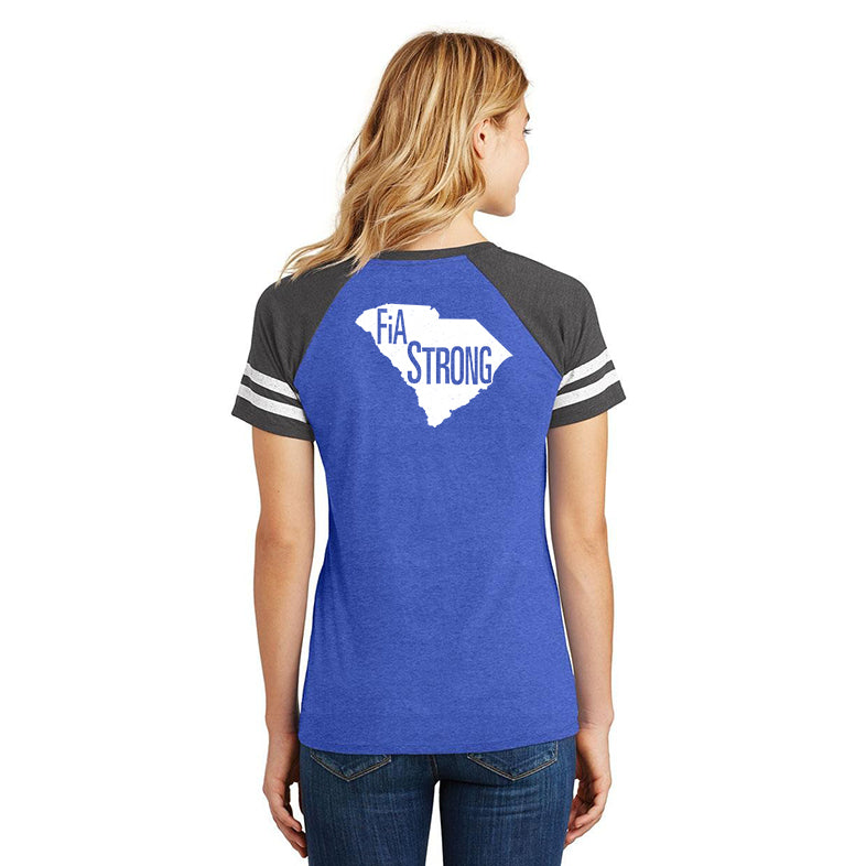FiA Strong - SC District Women's Game V-Neck Tee Pre-Order