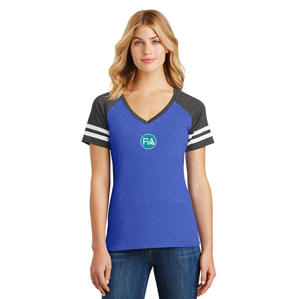 FiA Strong - NC District Women's Game V-Neck Tee Pre-Order