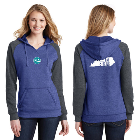 FiA Strong - Kentucky District Women's Lightweight Fleece Raglan Hoodie Pre-Order