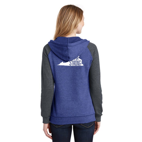 FiA Strong - Virginia District Women's Lightweight Fleece Raglan Hoodie Pre-Order