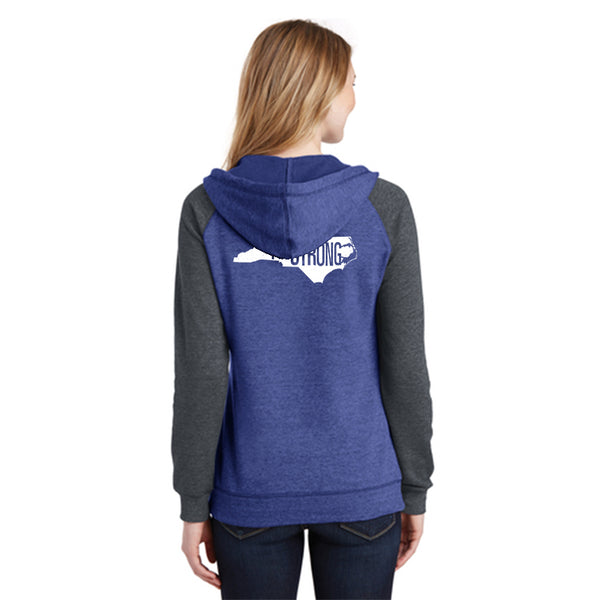 FiA Strong - NC District Women's Lightweight Fleece Raglan Hoodie Pre-Order