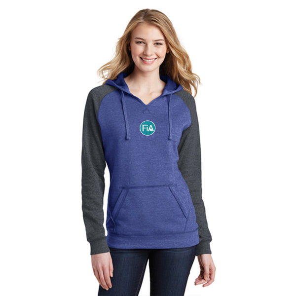 FiA Strong - Louisiana District Women's Lightweight Fleece Raglan Hoodie Pre-Order