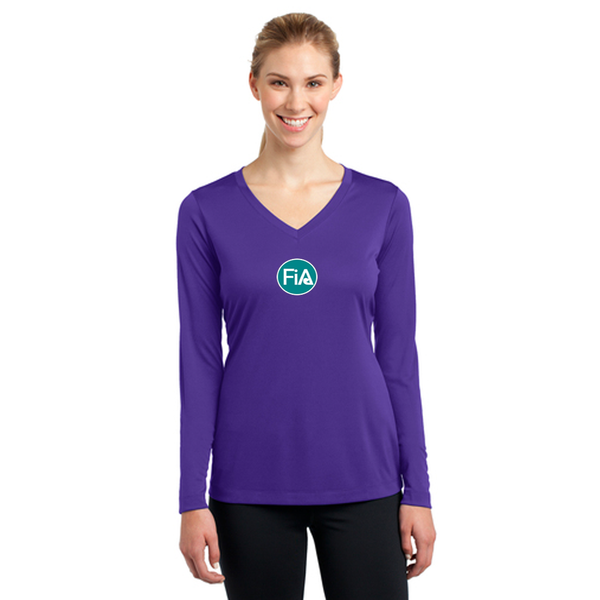 FiA Lexington Down Under Sport-Tek Ladies Long Sleeve Competitor V-Neck Tee Pre-Order