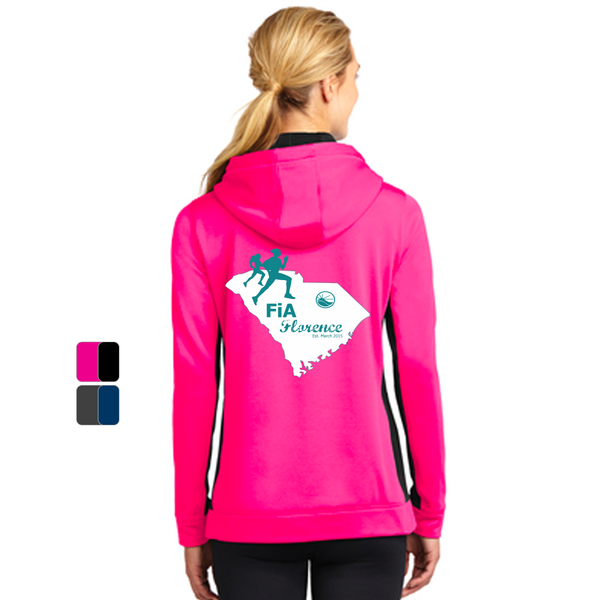 FiA Florence Sport-Tek Ladies Sport-Wick Fleece Colorblock Hooded Pullover Pre-Order