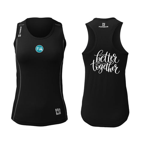 FiA Cyber Monday Deal MudGear Women's Performance Racerback Tank (Black)