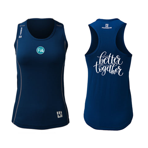 FiA Cyber Monday Deal MudGear Women's Performance Racerback Tank (Navy)