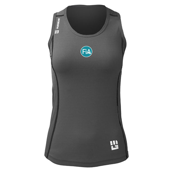 FiA Cyber Monday Deal MudGear Women's Performance Racerback Tank (Steel Gray)