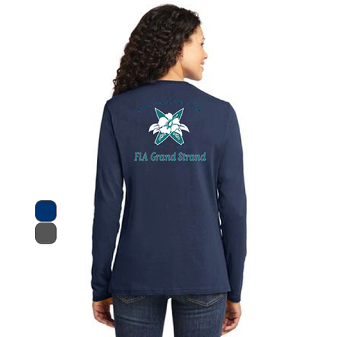 FiA Grand Strand Port & Company Ladies Long Sleeve Cotton Tee Pre-Order