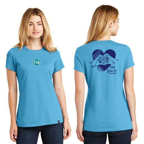 FiA SC York New Era Ladies Heritage Blend Crew Tee Pre-Order