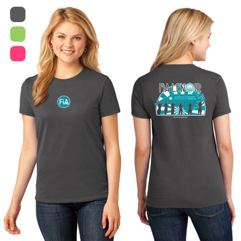 FiA Lenoir Port & Company Ladies Core Cotton Tee Pre-Order
