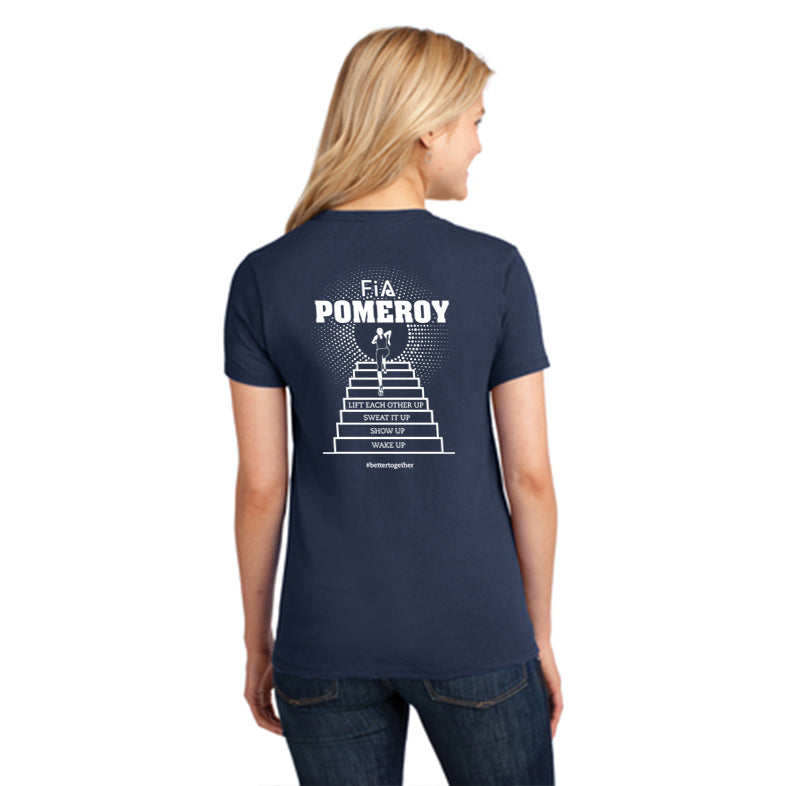 FiA Pomeroy Port & Company Ladies Core Cotton Tee Pre-Order