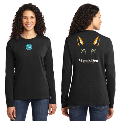FiA Lake Murray AO Vixen - Port & Company Ladies Long Sleeve Cotton Tee Pre-Order