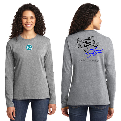 FiA Lake Murray AO Loggerhead - Port & Company Ladies Long Sleeve Cotton Tee Pre-Order