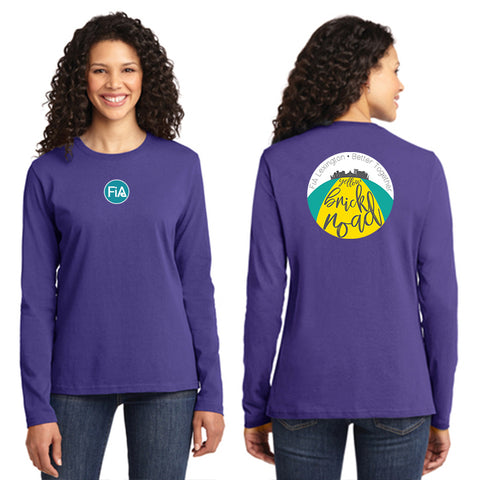 FiA Lexington Yellow Brick Road Port & Company Ladies Long Sleeve Core Cotton Tee Pre-Order
