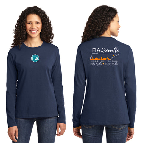 FiA Knoxville Port & Company Ladies Long Sleeve Cotton Tee Pre-Order