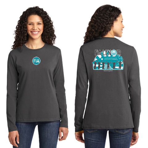 FiA Lenoir Port & Company Ladies Long Sleeve Cotton Tee Pre-Order