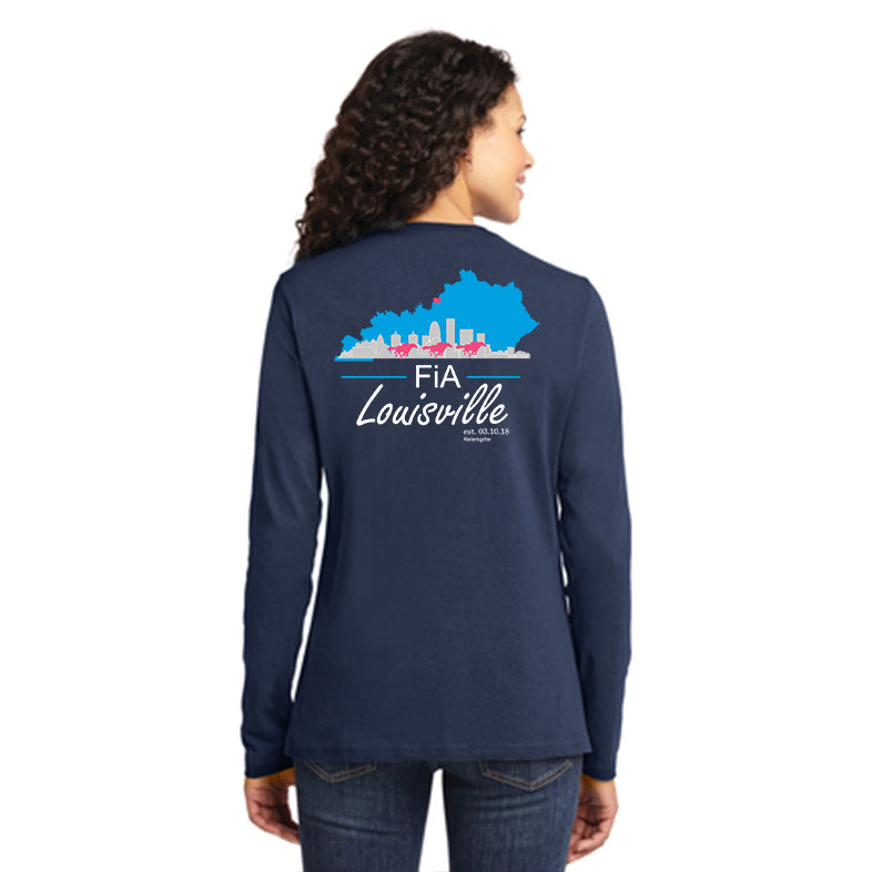 FiA KY Louisville Port & Company Ladies Long Sleeve Cotton Tee Pre-Order
