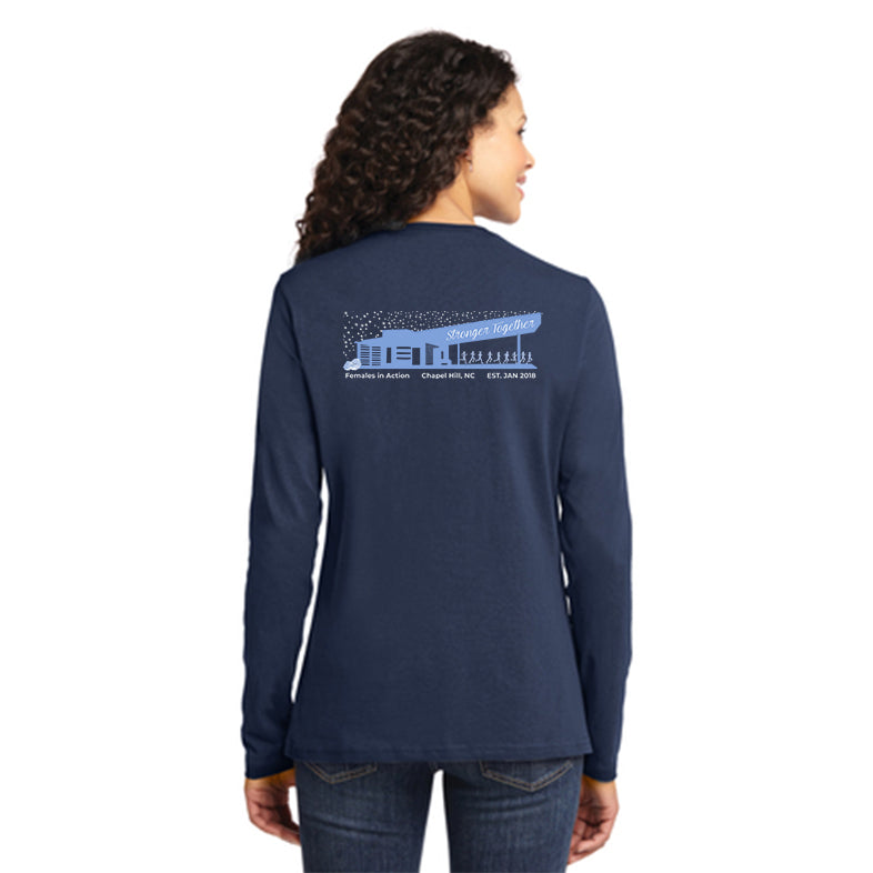 FiA NC Briar Chapel Port & Company Ladies Long Sleeve Cotton Tee Pre-Order