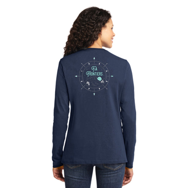 FiA Frontiers Port & Company Ladies Long Sleeve Cotton Tee Pre-Order