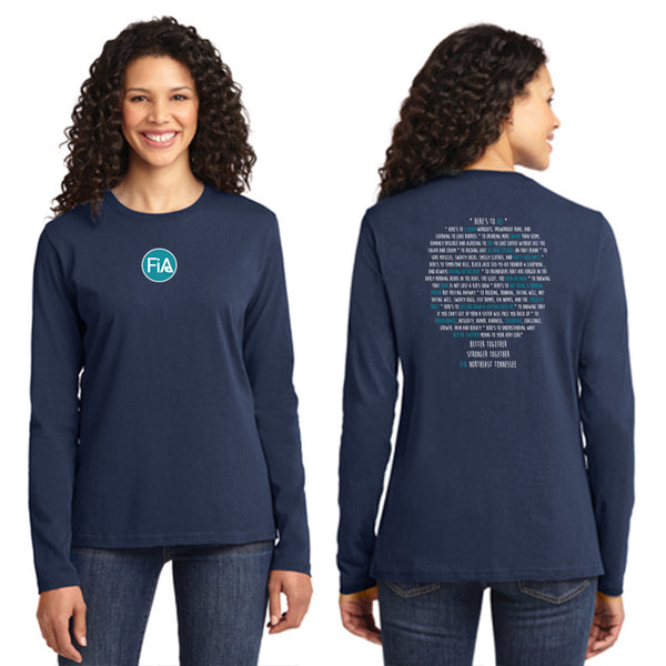 FiA TN - Northeast (Johnson City) Port & Company Ladies Long Sleeve Cotton Tee Pre-Order