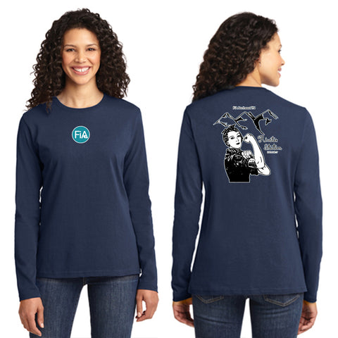 FiA - TN: Johnson City Port & Company Ladies Long Sleeve Cotton Tee Pre-Order