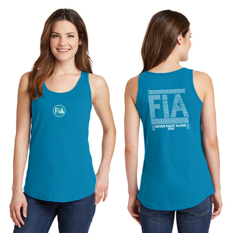 FiA Ribbon - Never Alone 2018: Port & Co. Cotton Tank Top Pre-Order