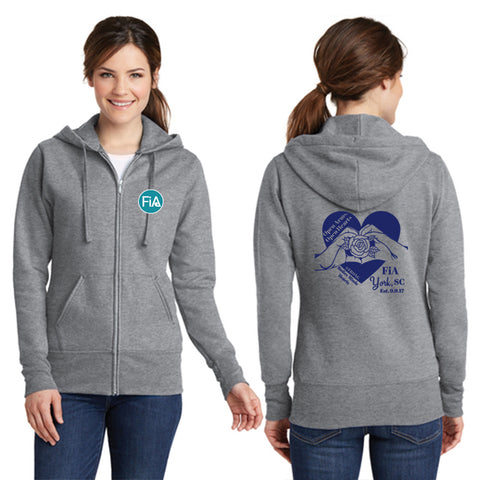 FiA SC York Port & Company Ladies Core Fleece Full-Zip Hooded Sweatshirt Pre-Order