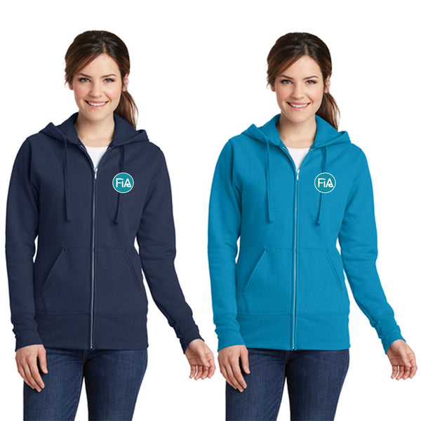 FiA - TN: Johnson City Port & Company Ladies Core Fleece Full-Zip Hooded Sweatshirt Pre-Order