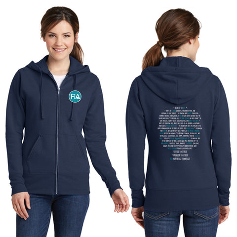 FiA TN - Northeast (Johnson City) Port & Company Ladies Core Fleece Full-Zip Hooded Sweatshirt Pre-Order