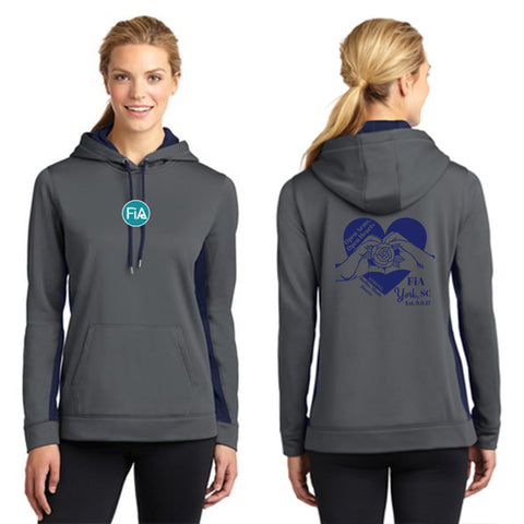 FiA SC York Sport-Tek Ladies Sport-Wick Fleece Colorblock Hooded Pullover Pre-Order