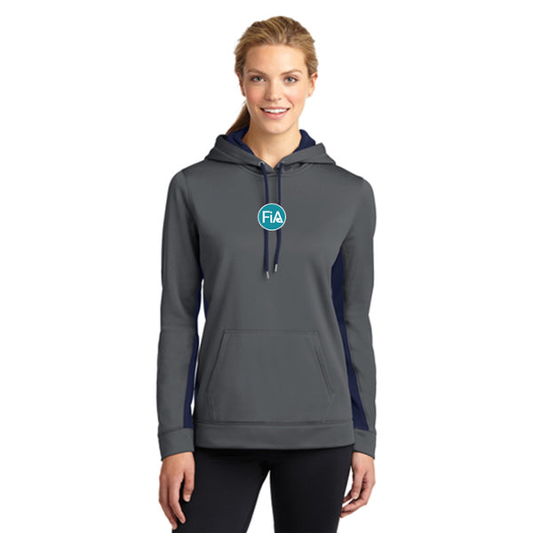 FiA - TN: Johnson Sport-Tek Ladies Sport-Wick Fleece Colorblock Hooded Pullover Pre-Order