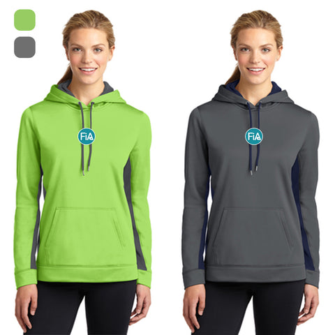 FiA Lake Murray AO Loggerhead - Sport-Tek Ladies Sport-Wick Fleece Colorblock Hooded Pullover Pre-Order
