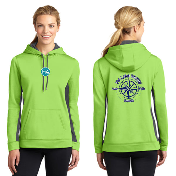 FiA Lake Murray - Sport-Tek Ladies Sport-Wick Fleece Colorblock Hooded Pullover Pre-Order