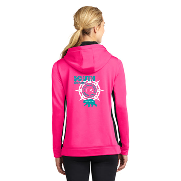 FiA South Charlotte Sport-Tek Ladies Sport-Wick Fleece Colorblock Hooded Pullover Pre-Order