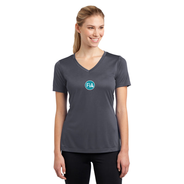 FiA Greensboro Sport-Tek Women's Short Sleeve V-Neck Tee Pre-Order