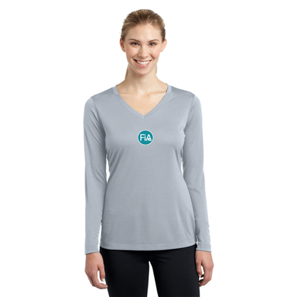 FiA SC York Sport-Tek Women's Long Sleeve V-Neck Tee Pre-Order