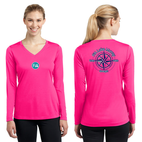 FiA Lake Murray - Sport-Tek Ladies Long Sleeve Competitor V-Neck Tee Pre-Order