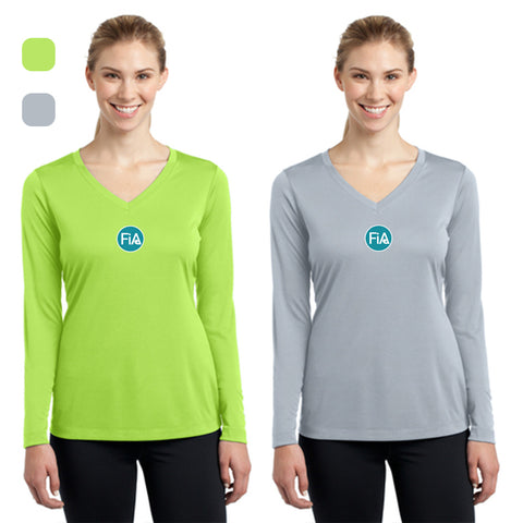 FiA Lake Murray AO Loggerhead - Sport-Tek Ladies Long Sleeve Competitor V-Neck Tee Pre-Order