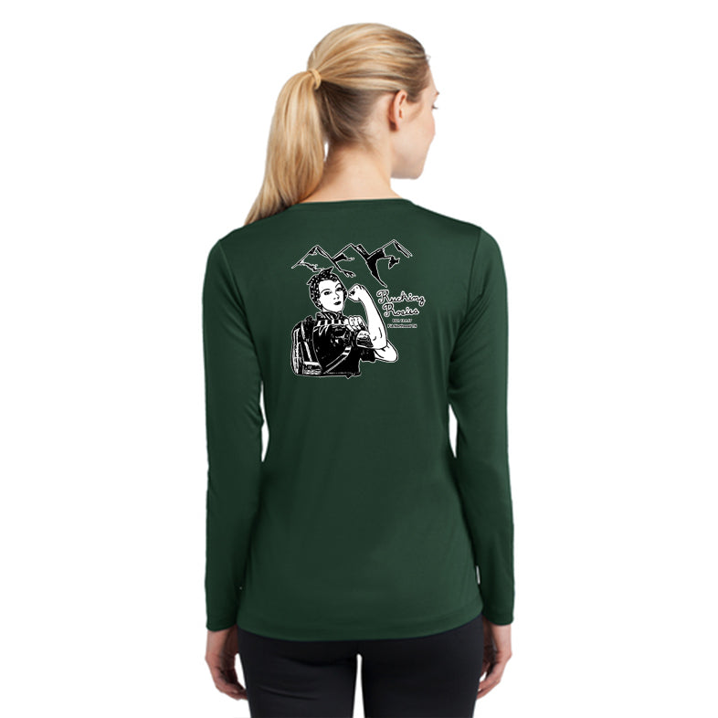 FiA Tennessee Rucking Rosies Sport-Tek Ladies Long Sleeve Competitor V-Neck Tee Pre-Order