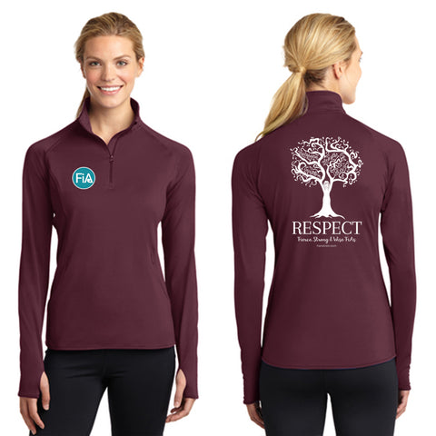 FiA Respect Sport-Tek Ladies Sport-Wick Stretch 1/2-Zip Pullover Pre-Order