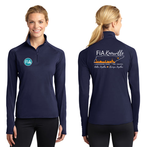 FiA Knoxville Sport-Tek Ladies Sport-Wick Stretch 1/2-Zip Pullover Pre-Order