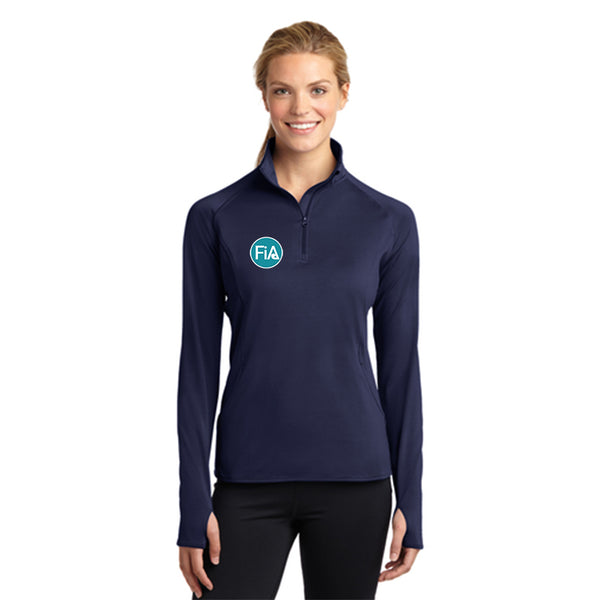 FiA - TN: Johnson City Sport-Tek Ladies Sport-Wick Stretch 1/2-Zip Pullover Pre-Order