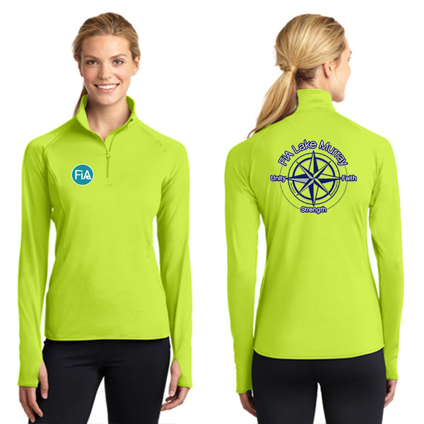 FiA Lake Murray - Sport-Tek Ladies Sport-Wick Stretch 1/2-Zip Pullover Pre-Order