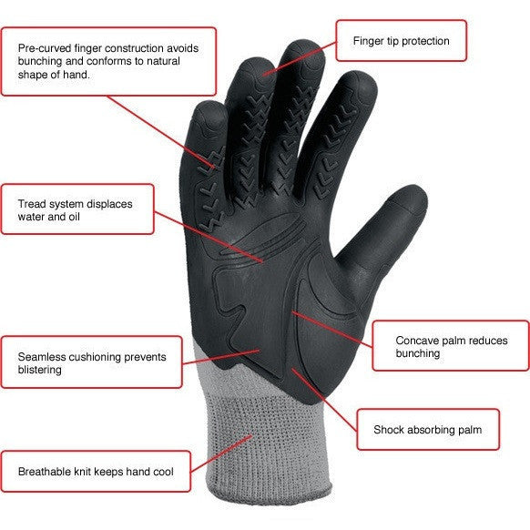 MadGrip Tough Mud Run Gloves Features