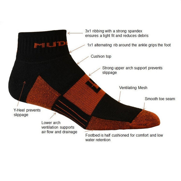 MudGear tough mud run socks for trails, obstacle racing and training