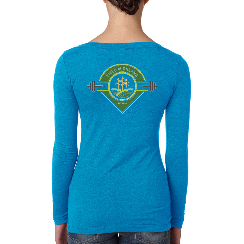 FiA Field of Dreams Next Level Women's Tri-Blend Long Sleeve Scoop Tee Pre-Order