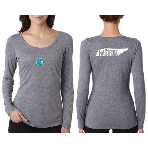FiA Strong - TN Next Level Ladies Triblend LongSleeve Scoop Tee Pre-Order