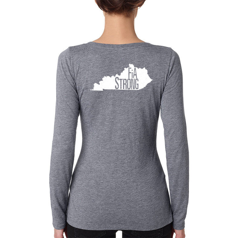 FiA Strong - Kentucky Next Level Ladies Triblend LongSleeve Scoop Tee Pre-Order